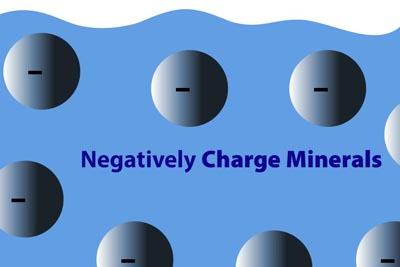 negatively charged minerals